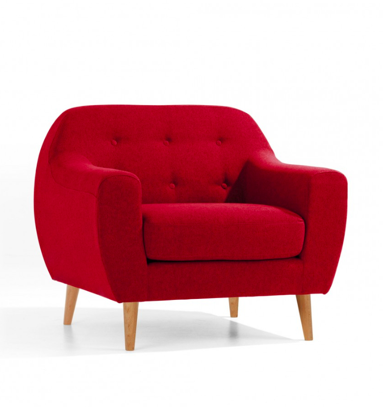 Fauteuil Malone Rouge Collection Göteborg Homifab #Deco # ... destiné Chaise Malone But