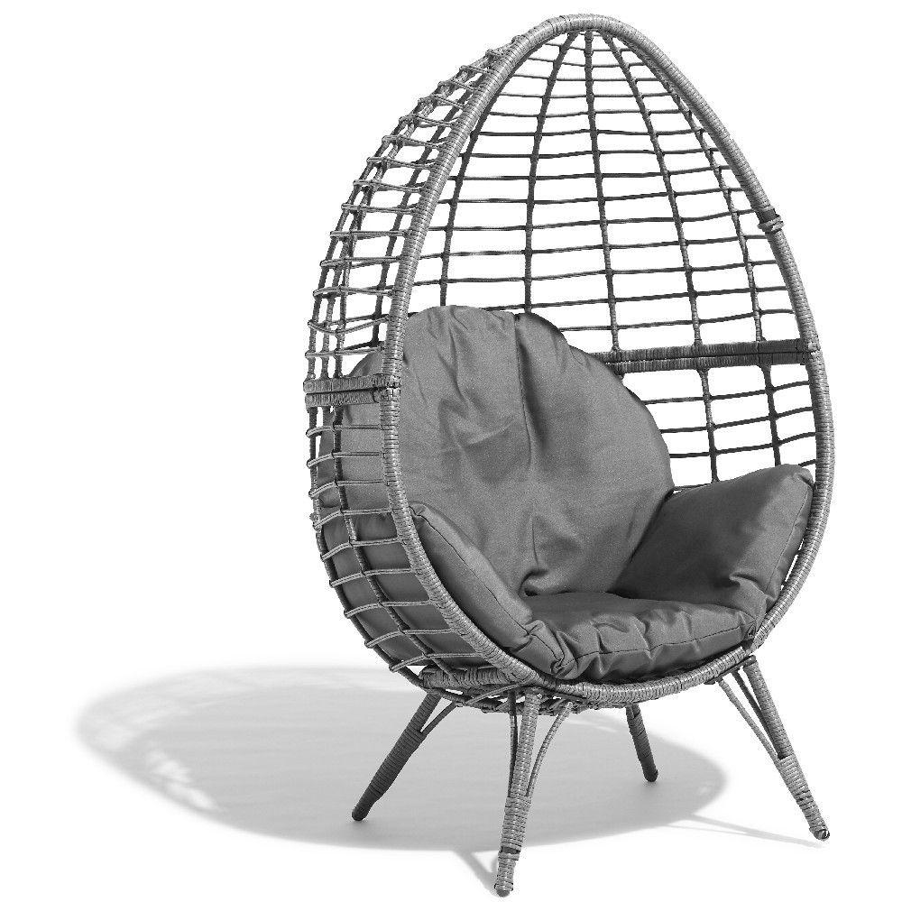 Fauteuil Oeuf Jardin Fauteuil De Jardin Egg Gris ... encequiconcerne Fauteuil Oeuf Gifi