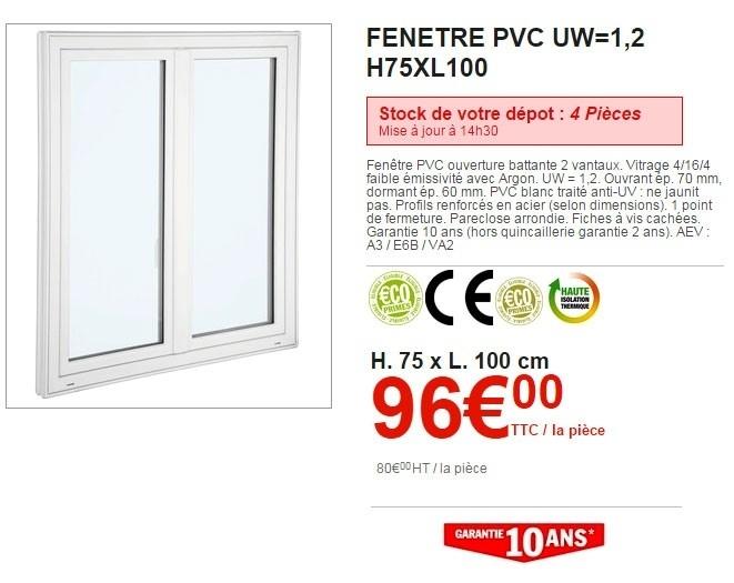 Fenetre Pvc Double Vitrage Brico Depot - Les Menuiseries ... avec Lame De Volet Bois Bricodepot