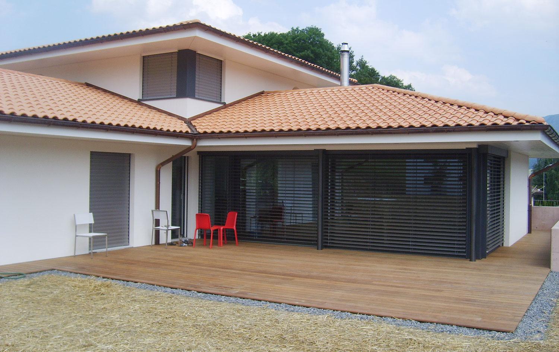 Fermer Son Balcon Prix. Excellent Quels Matriaux Choisir ... intérieur Terrasse Couverte Avec Poteaux Beton