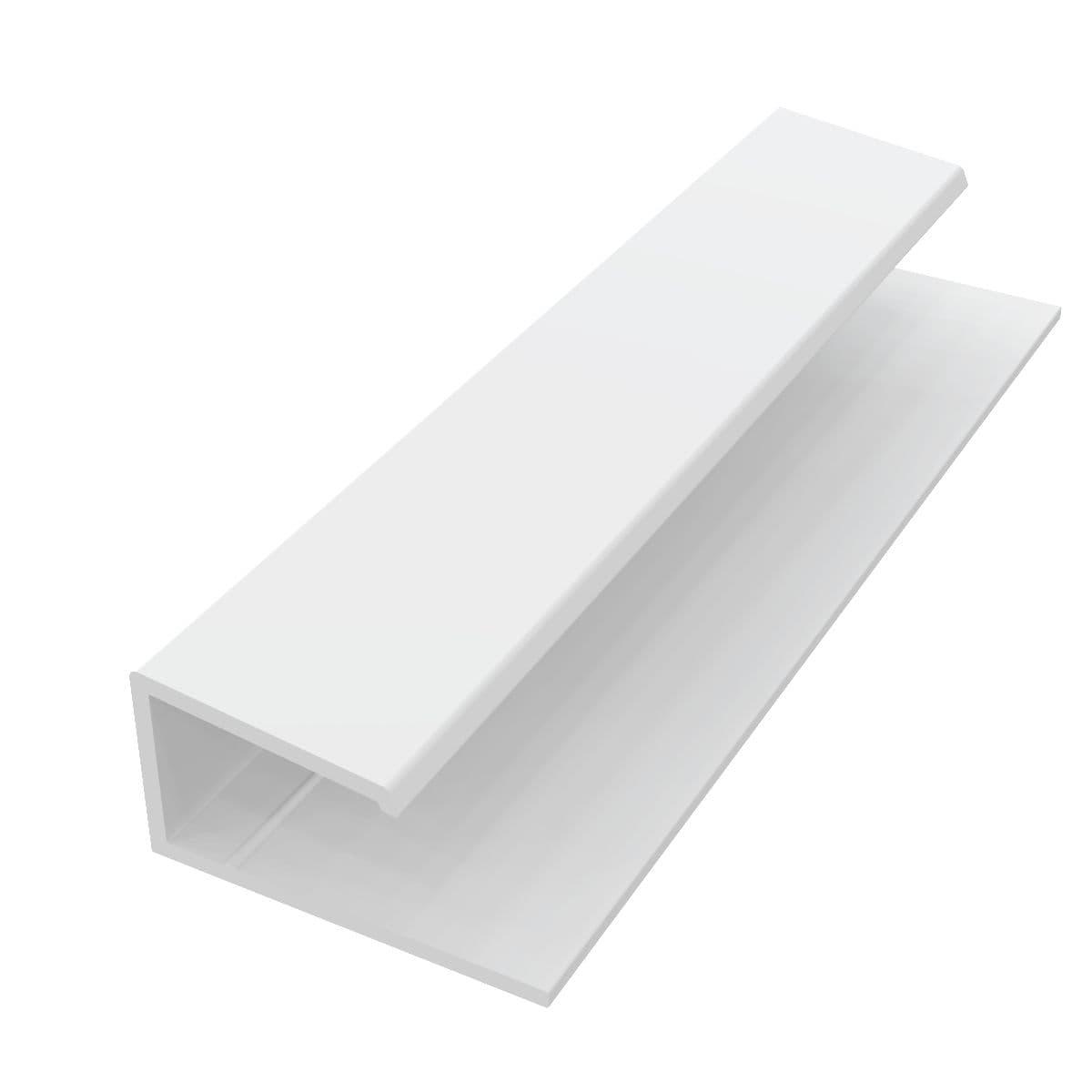 Freefoam Plastics - Bordure En U Pro - Pvc Blanc - L. 3 M ... pour Bordure Aluminium Point P