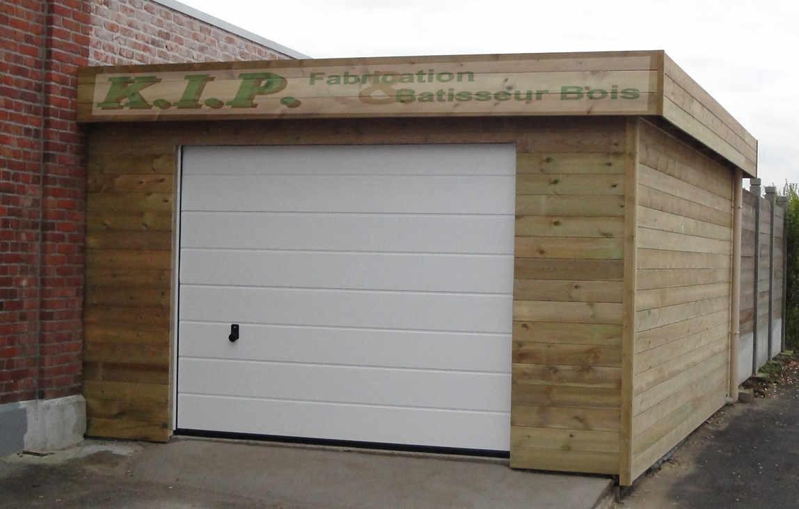 Garage Ossature Bois Toit Plat - Davidreed.co serapportantà Faux Toit Plat