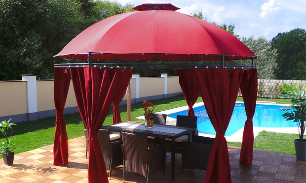 Gazebo Pavilions From £149.99 | Groupon Goods tout Tonnelle Ronde 3M