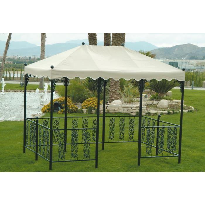 Hevea - Tonnelle Rectangulaire Andujar 300X200Cm - Achat ... intérieur Gloriette Bois Occasion