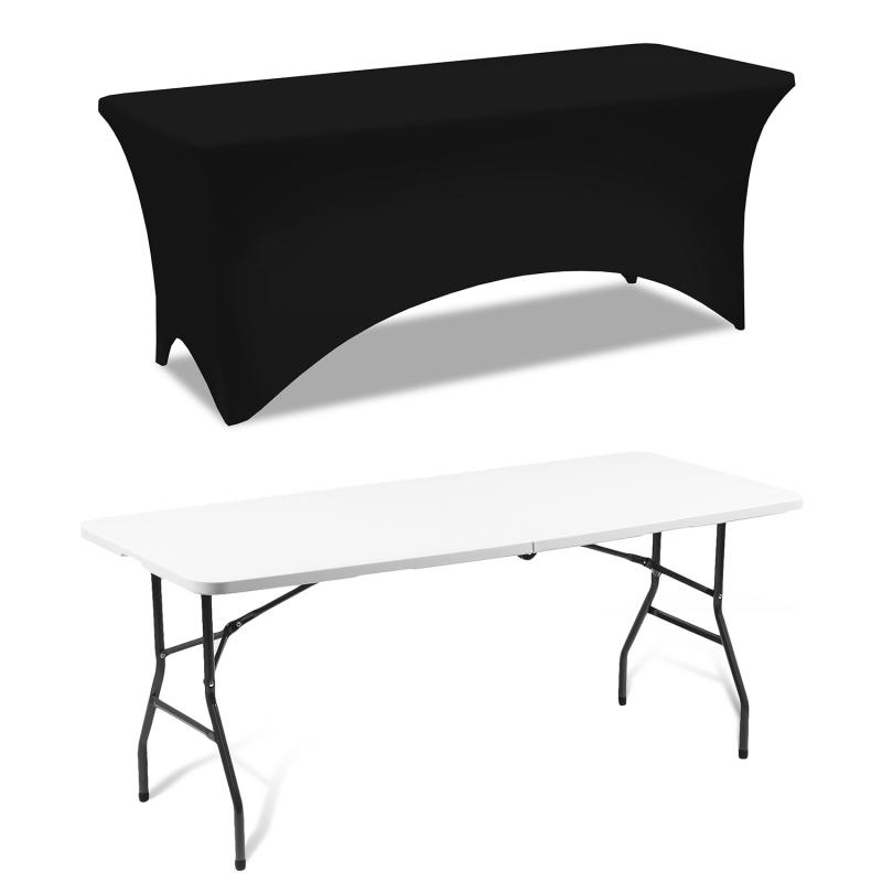 Housse Noire Pour Table Pliante 180 Cm serapportantà Table Pliante 180 Cm Leclerc