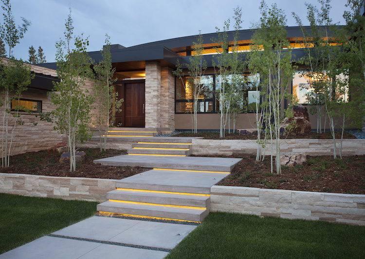 Idée Aménagement Jardin Devant Maison : 50 Idées Pour La ... avec Jardin Devant Maison Moderne