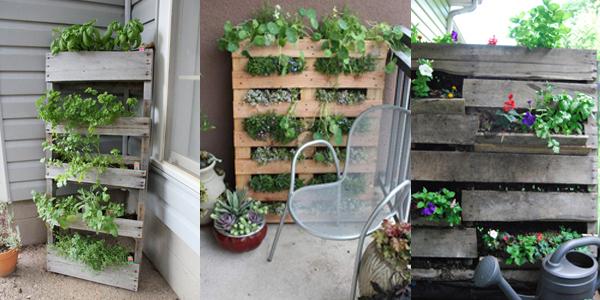 Idee Jardin Pour Balcon - Le Spécialiste De La Décoration ... destiné Potager Suspendu En Palette