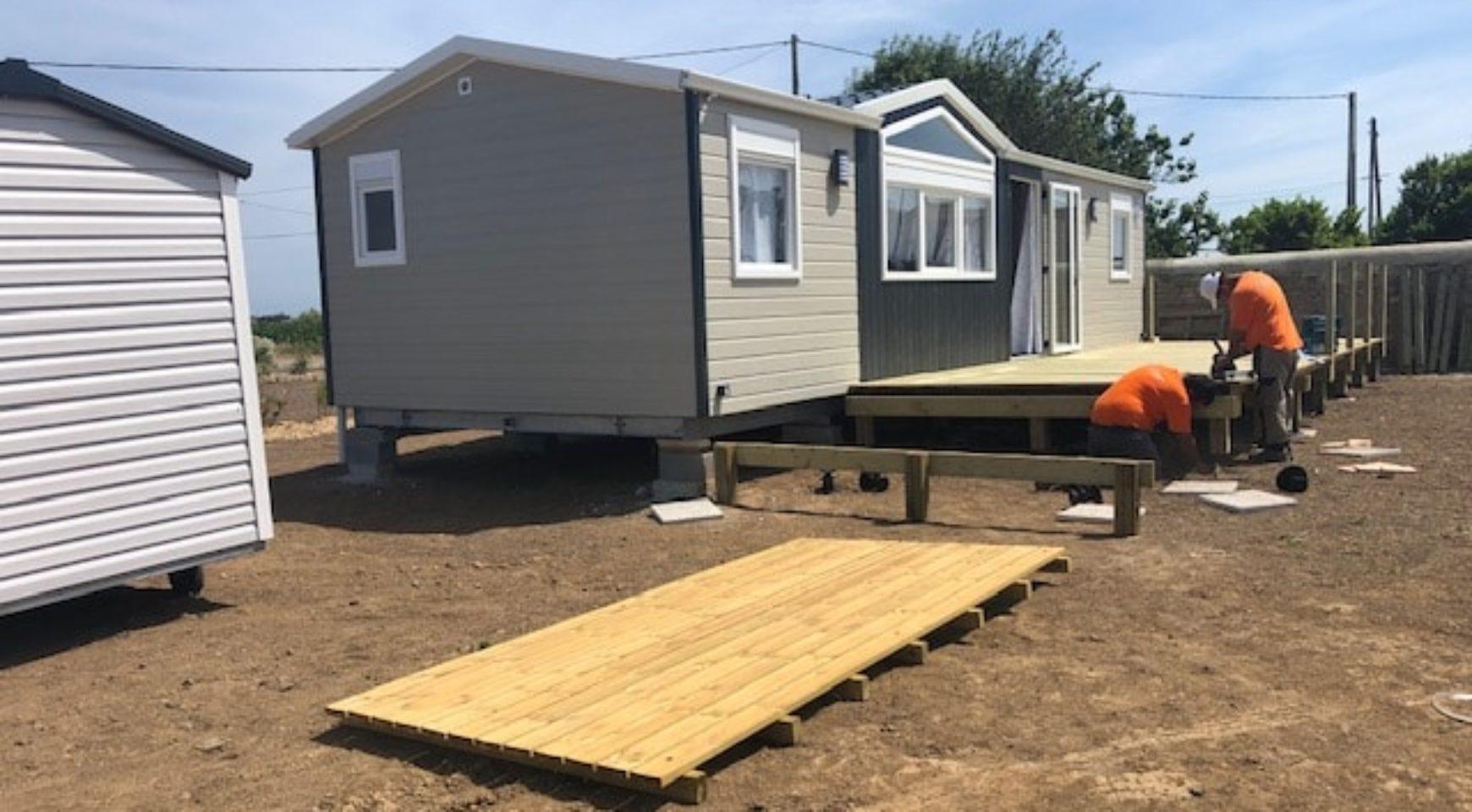 Installation De 9 Mobiles-Home Sur Un Prl - Mobil Home En ... concernant Abri Dacri Occasion