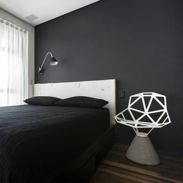 Intérieur Studio: Design Original D'Un Appartement De 36 M² avec Carrelage Pintura Noir