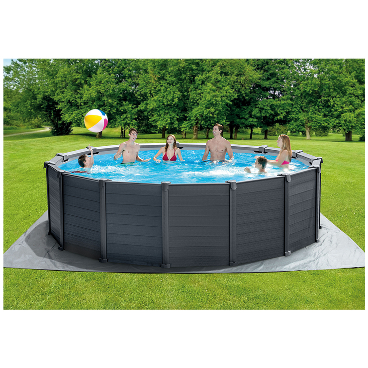 Intex Graphite Grey Panel Pool 4.78 X 1.24M | Costco Australia serapportantà Intex Graphite 4.78