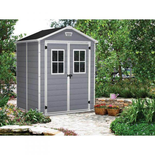 Jardin ᐅ Abri De Jardin Résine Premium 65 Gris - 2,8 M² ... destiné Abri De Jardin Initia