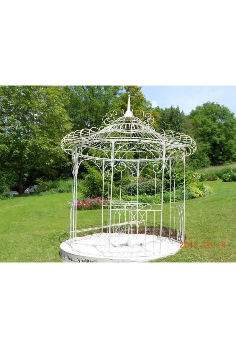 Kiosque De Jardin En Fer Forge — Lamichaure avec Gloriette Bois Occasion