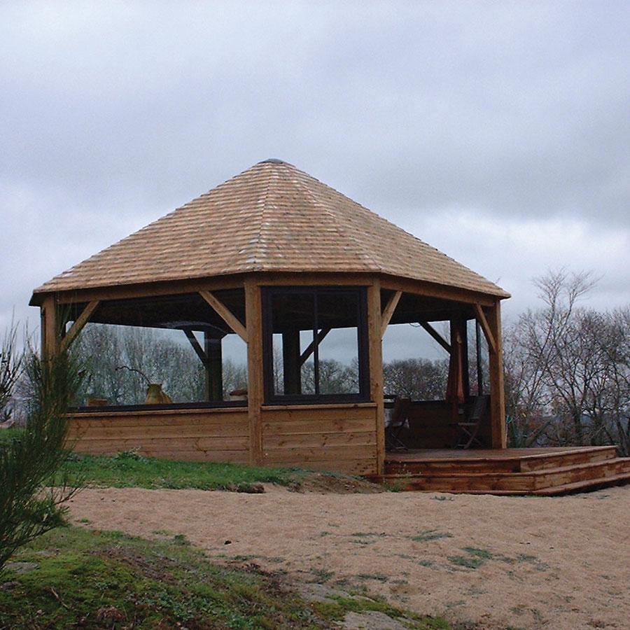 Kiosques Et Carports En Bois - Dpb - Diffusion Produits Bois dedans Kiosque En Bois Occasion