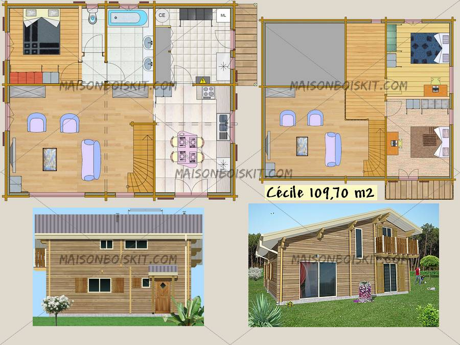 Kit De Maison En Bois Pas Cher - N15 avec Maison En Bois En Kit Pas Cher Pologne