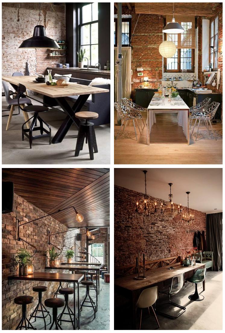 La Brique Rouge, Signe Distinctif Du Style Industriel, A ... serapportantà Decoration Brique Rouge Style Loft New Yorkais
