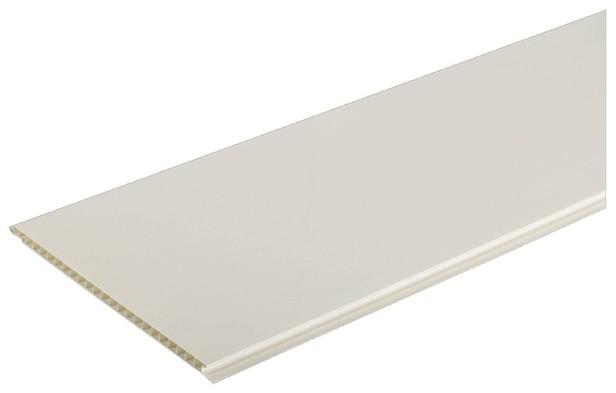 Lambris Pvc 1 Frise Blanc Brillant - Brico Dépôt à Plaque De Soubassement Brico Depot