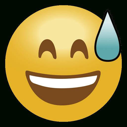 Laugh Drop Emoji Emoticon - Transparent Png & Svg Vector File à Emoji Doigt D'Honneur Png