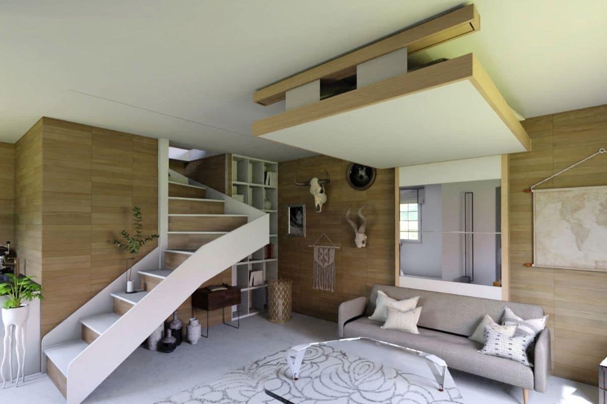 Le Salon - Spécialiste Petits Espaces pour Lit Qui Descend Du Plafond