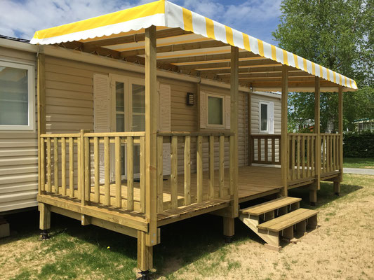 Les Terrasses En Vente - Vente De Mobil Home Neuf Et ... concernant Kit Couverture Terrasse Mobil Home