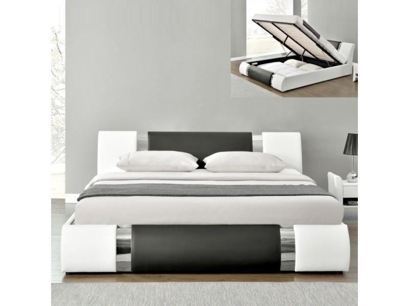 Lit Adulte Coffre Design Atlantic - 160X200 - Vente De Lit ... encequiconcerne Lit Pont 160X200 Conforama