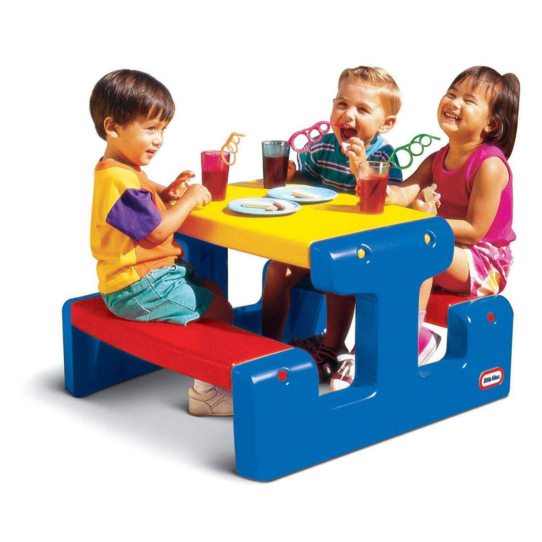 Little Tikes Table De Pique-Nique Juniortable Pique-Nique ... dedans Jardin Des Découvertes Little Tikes
