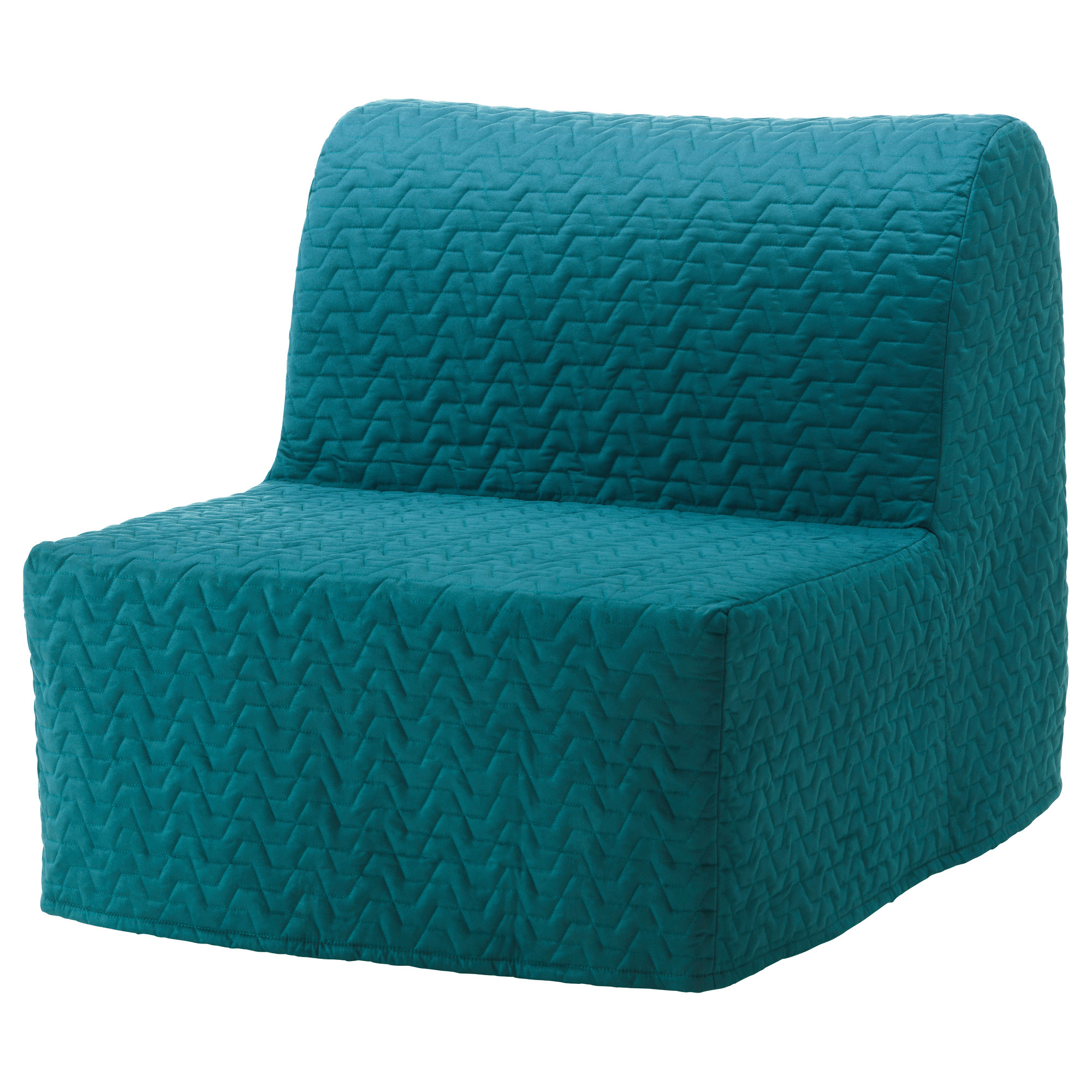 Lycksele Murbo Chair-Bed - Vallarum Turquoise | Chair Bed ... encequiconcerne Futon 1 Place Ikea
