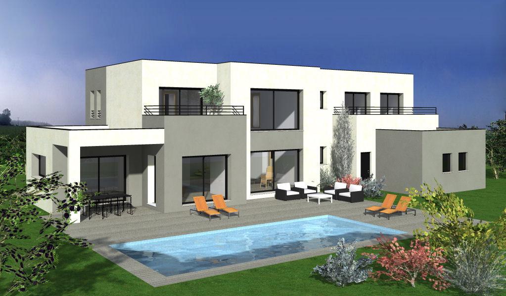 Maison Avec Toit-Plat Avec 5 Chambres + Terrasse - Maisons ... concernant Maison Toit Plat 200M2