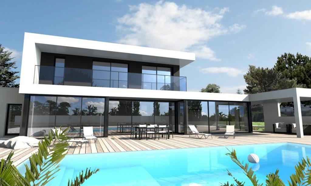Maison Avec Toit Terrasse : Un Aménagement Moderne Et Pratique intérieur Plan Maison Toit Plat 200M2