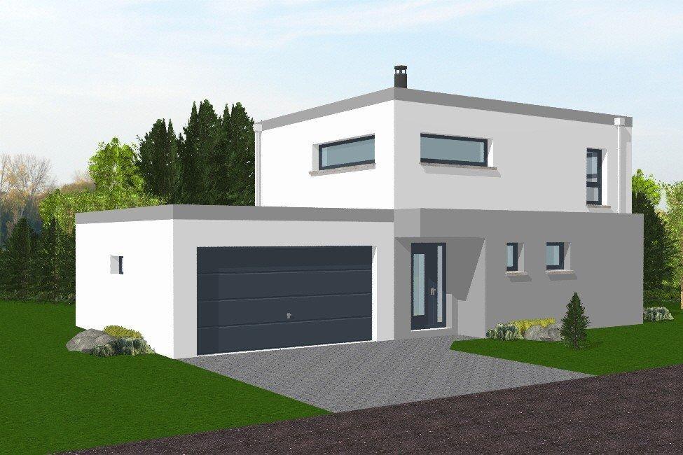 Maison Moderne Toit Plat 80M2 avec Maison Toit Plat 200M2
