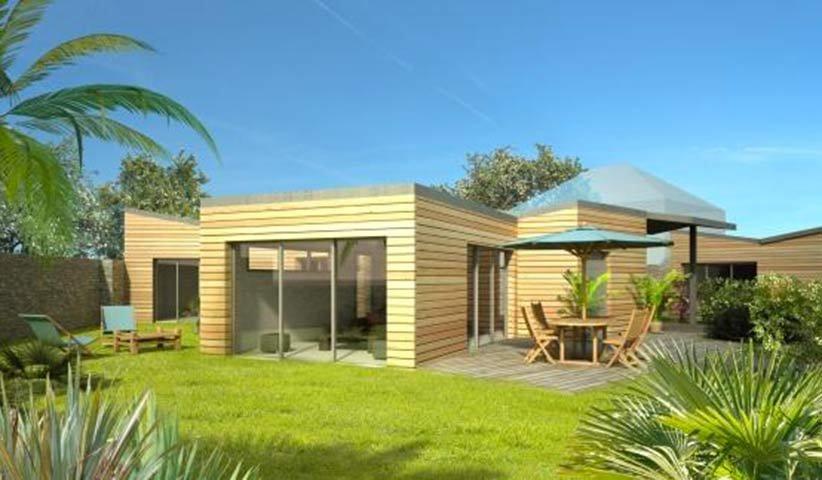 Maison Ossature Bois De Plain-Pied 120 M² 3 Chambres à Plan Maison Toit Plat 200M2