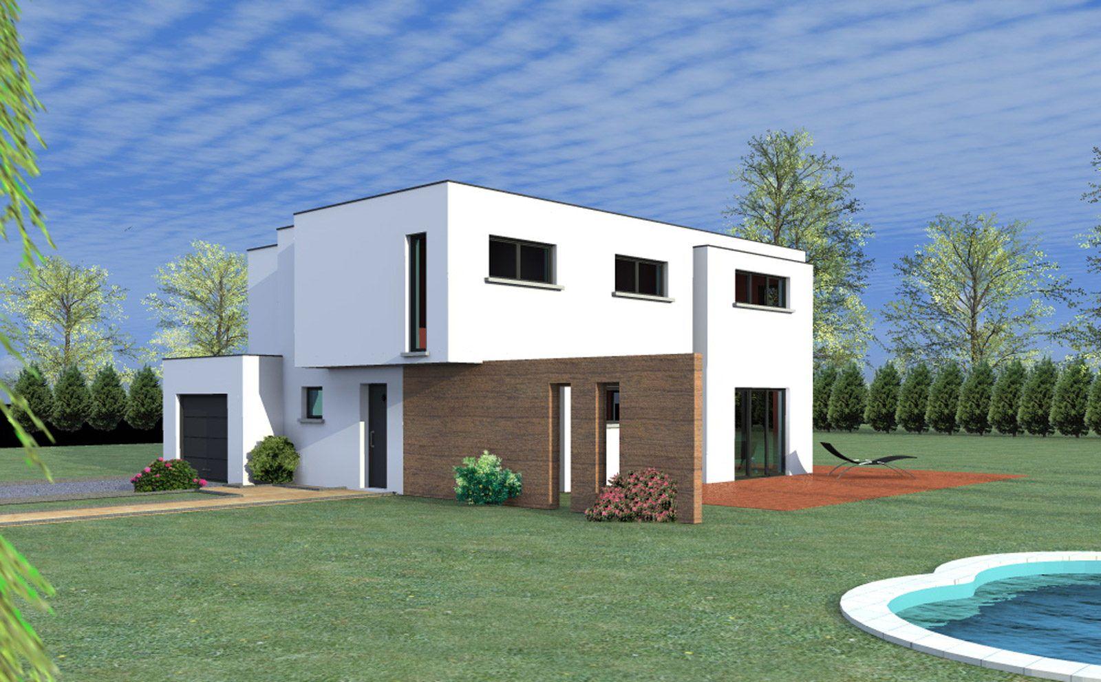 Maison Sierentz, Villa Contemporaine Toit Plat, Garage ... serapportantà Maison Toit Plat 200M2