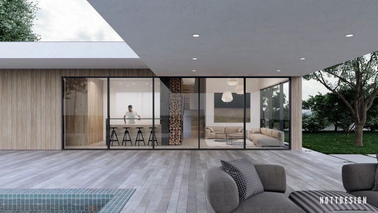 Maison Toit Plat Moderne Qui Défie La Gravité Par Nott ... encequiconcerne Faux Toit Plat