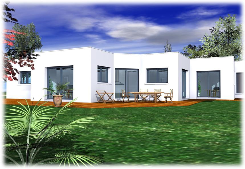 Maison Toit Plat Plain Pied - Mc Immo tout Plan Maison Toit Plat 200M2