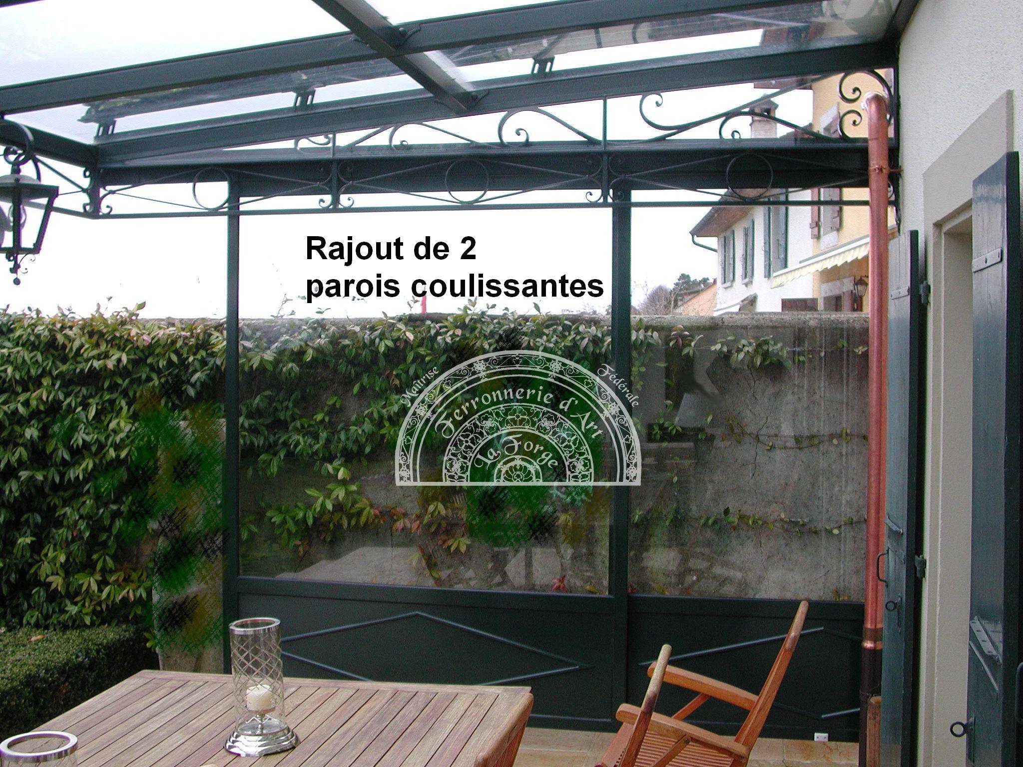Marquise. Rajout Parois Coulissantes (3) - Raffaele ... concernant Marquise Fer Forgé Occasion