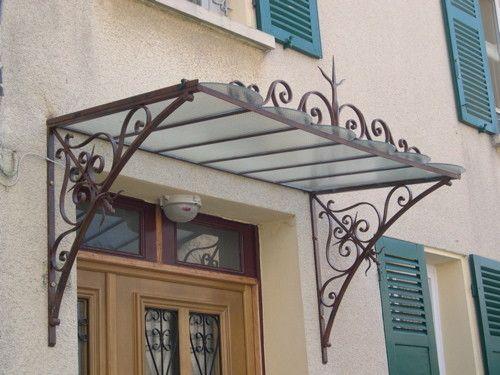 Marquises - Ferronnerie D'Art   Canopy/ Marquise Auvents ... intérieur Marquise De Porte Ancienne
