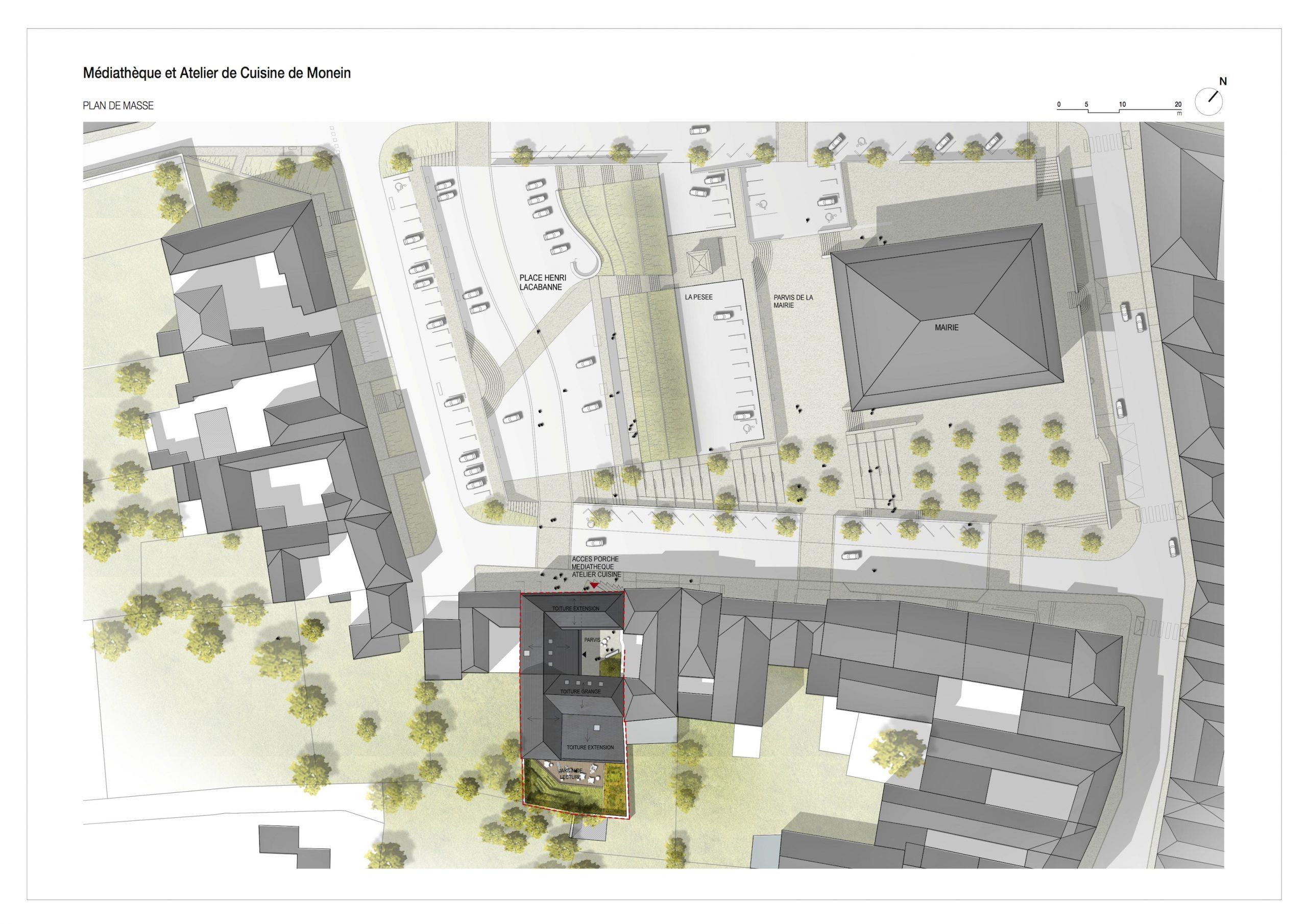 Memo _ Médiathèque Et Atelier De Cuisine De Monein | Prad ... destiné Gertrud+Franck+Plan+Jardin