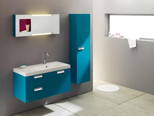 Meuble Salle Bain Turquoise à Accessoire Salle De Bain Bleu Turquoise