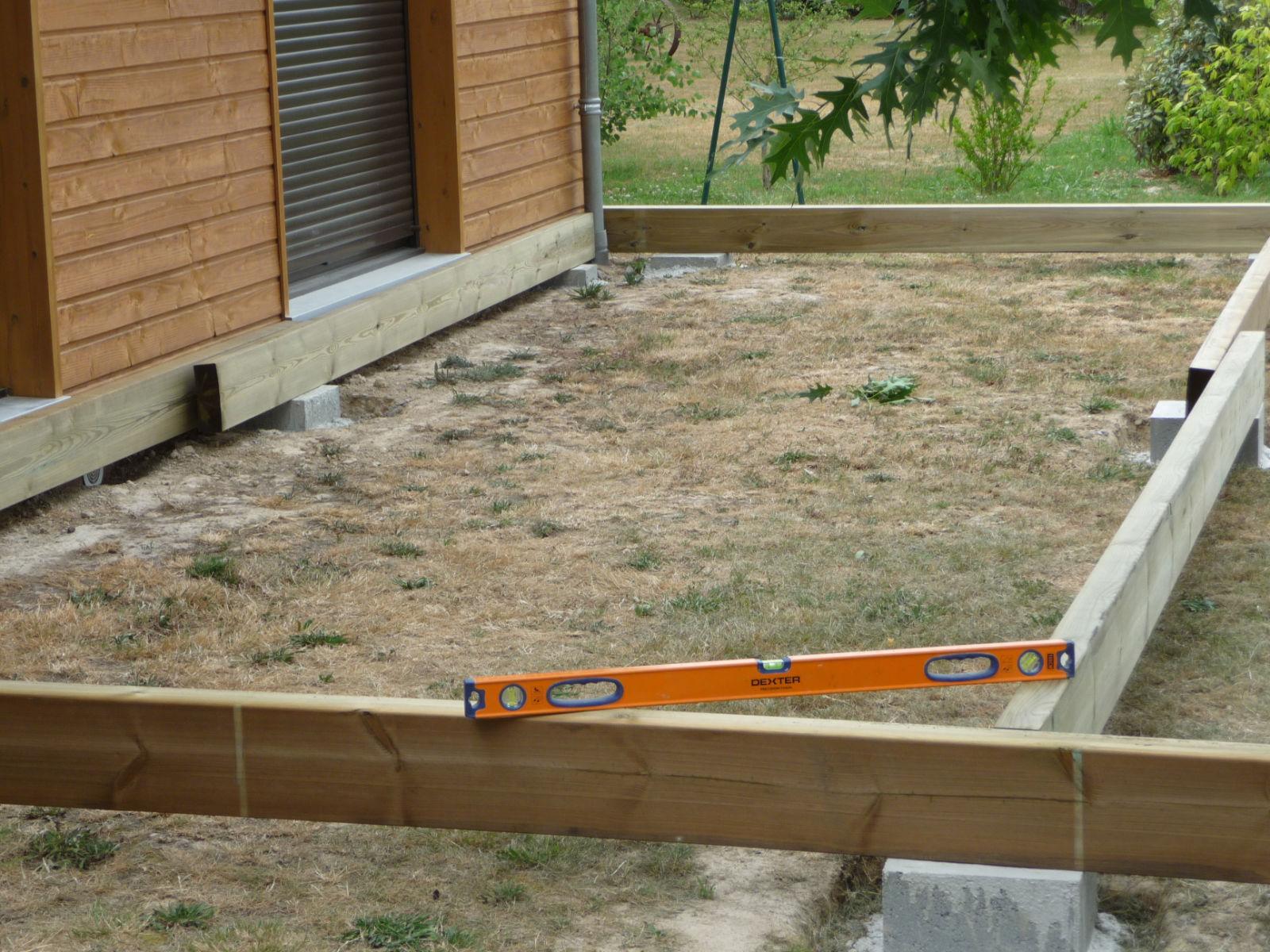 Mise À Niveau De La Structure - Construire Sa Terrasse En ... dedans Plot Beton Terrasse