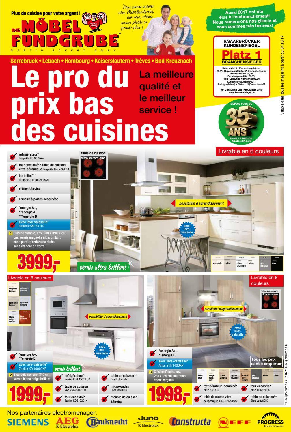 Möbel Fundgrube Küchenprospekt Kw 40 Francais By Die ... serapportantà Moebel Fundgrube