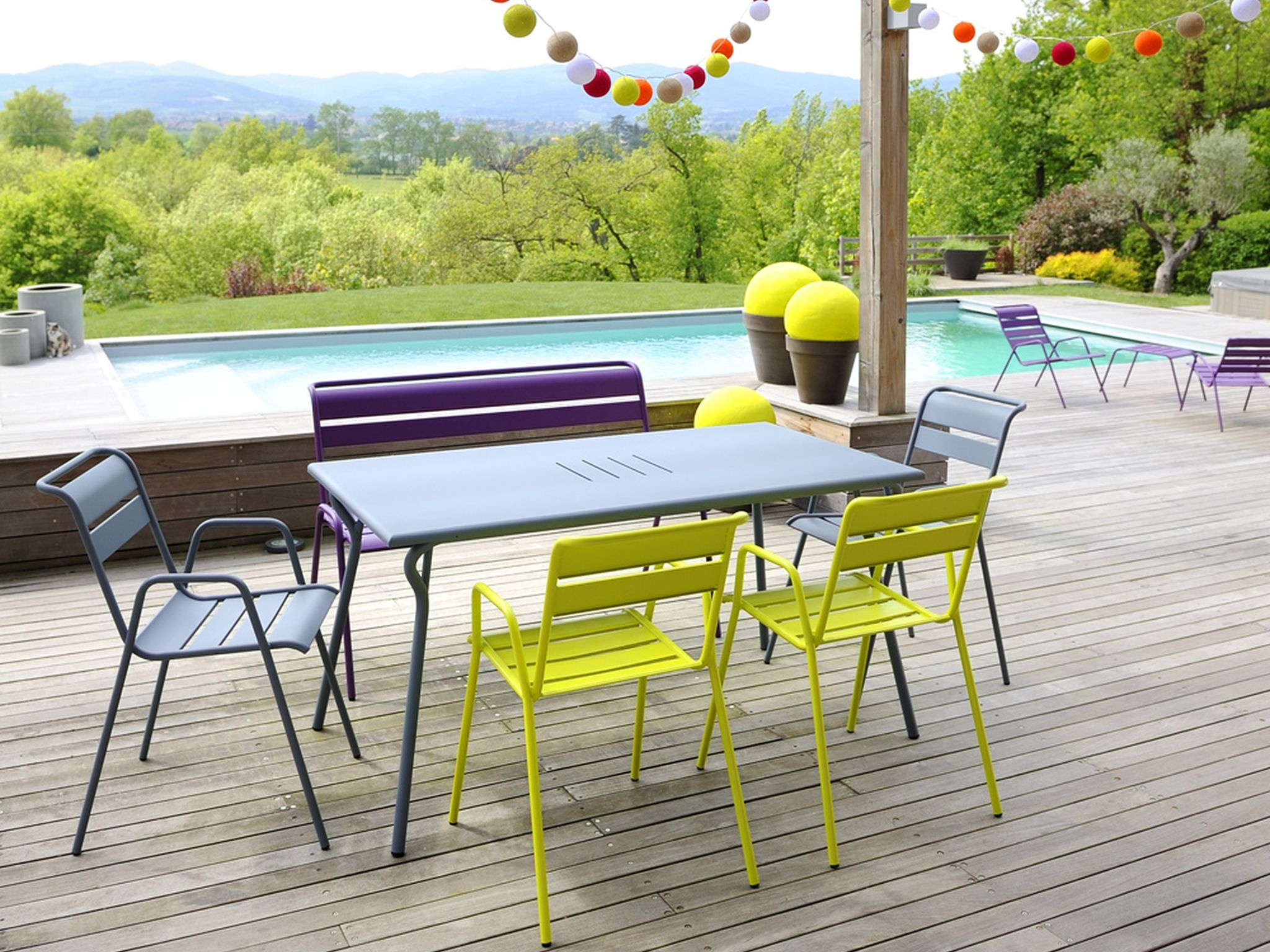 Mobilier De Jardin Style Fermob - Mailleraye.fr Jardin destiné Table Fermob Cargo Soldes