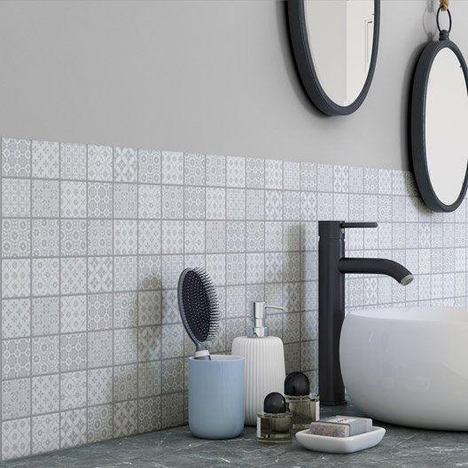 Mosaïque Mur Graphik Cement Gris | Gris, Mosaique, Mur serapportantà Dalle Pvc À Clipser Forte Artens Moods Gatsby N&B