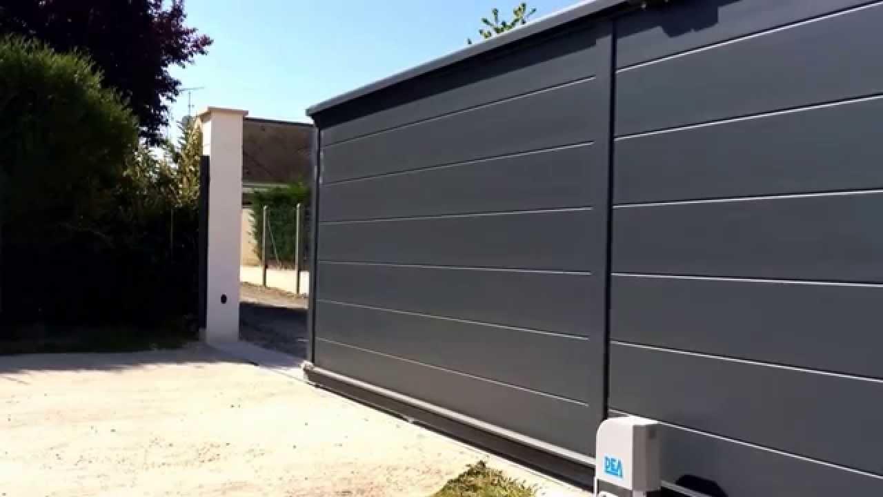 Motorisation De Portail Coulissant Somfy - Portail à Portail Coulissant 3M50 Brico Dépôt
