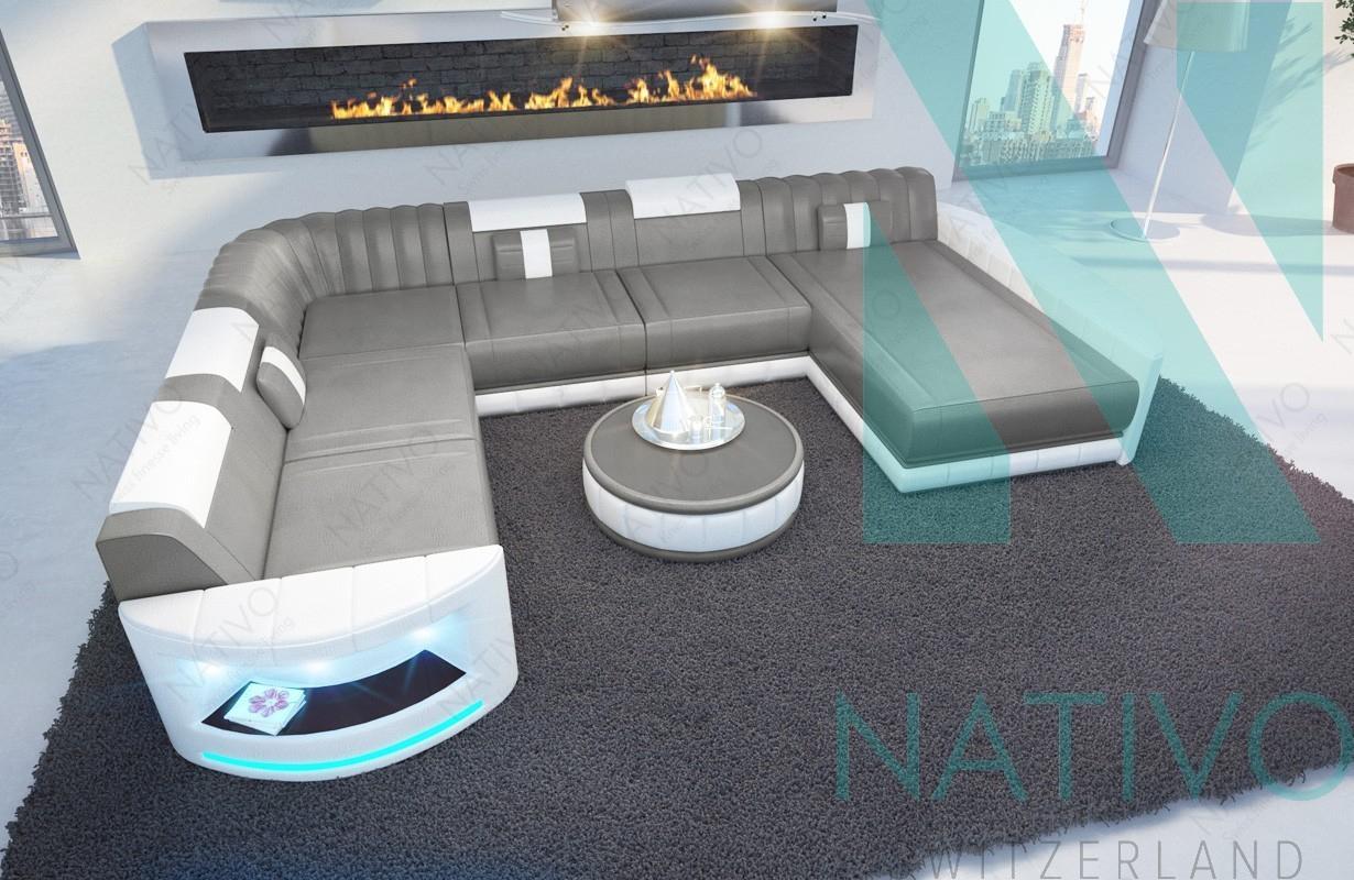 Nativo Mobilier Moderne - Canapé Atlantis Xxl Ac Éclairage Led tout Canapé Atlantis But