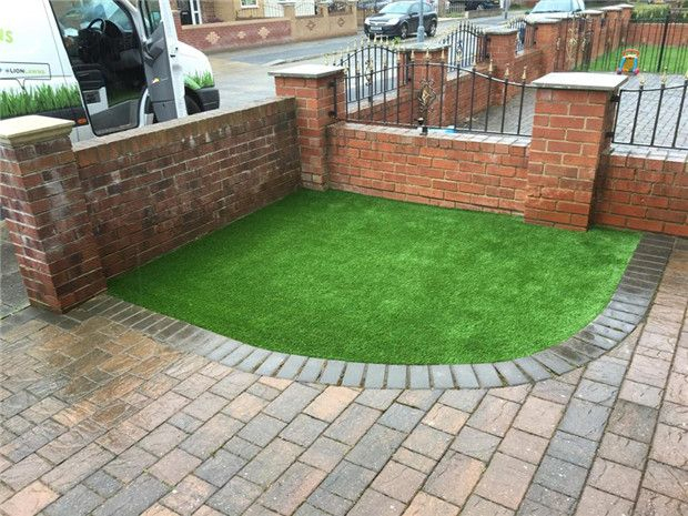 No Harmful Environmental Turf Fake Grass On Concrete In ... intérieur Piscine Gomme Recyclé