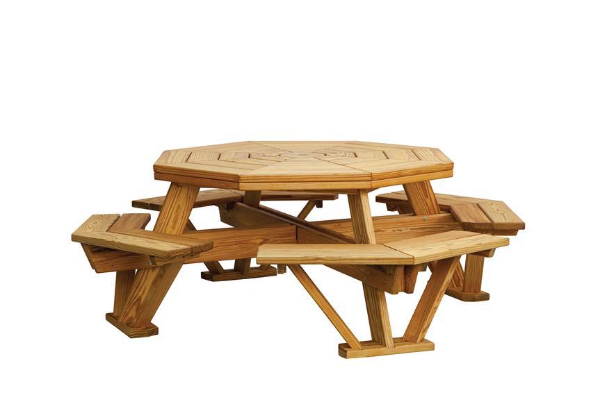 Octagonal Picnic Table Plans Pdf Plans Diy Free Download ... à Plan Table Picnic Pdf
