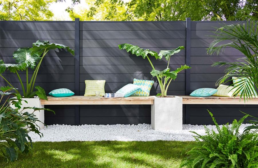 Optimiser La Clôture De Son Jardin En Pvc encequiconcerne Bordure Pvc Castorama