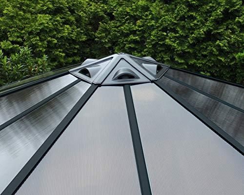 Palram Tonnelle De Jardin Monaco - Structure En Aluminium ... dedans Tonnelle Hexagonale Aluminium