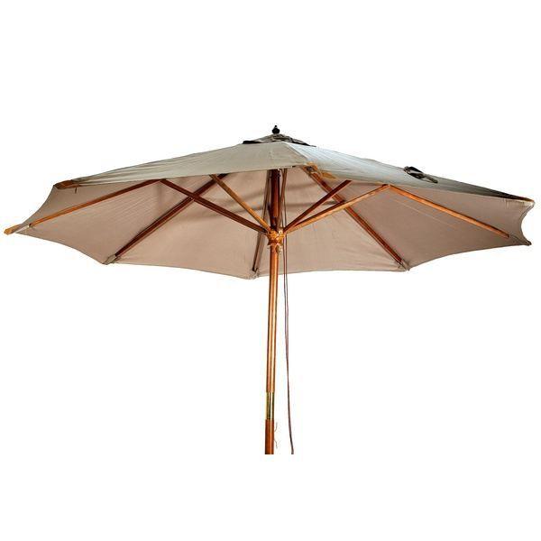 Parasol En Bois Ø 3M Taupe - Achat / Vente Parasol Parasol ... dedans Tonnelle Ronde 3M