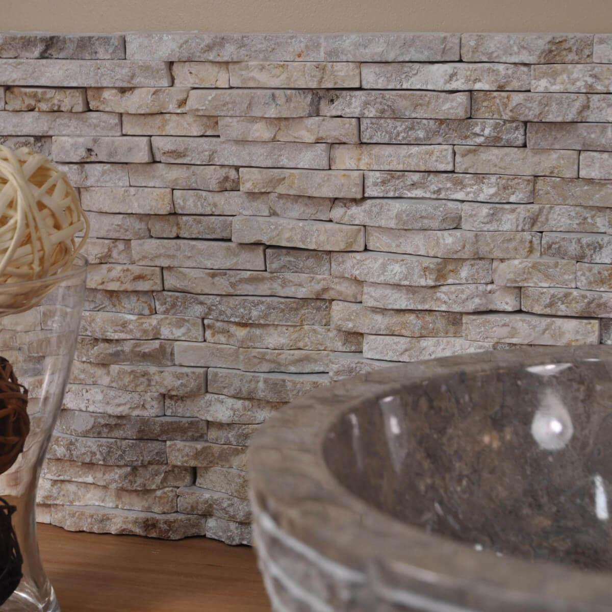 Parement En Pierre Naturel Marbre Brut Crème avec Carrelage Exterieur Mural Imitation Pierre