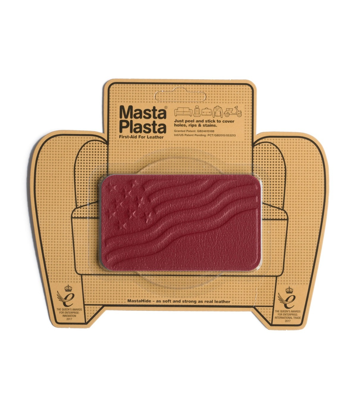 Patch Autocollant Drapeau / Masta-Plasta - Clip&Zip dedans Patch Reparation Simili Cuir